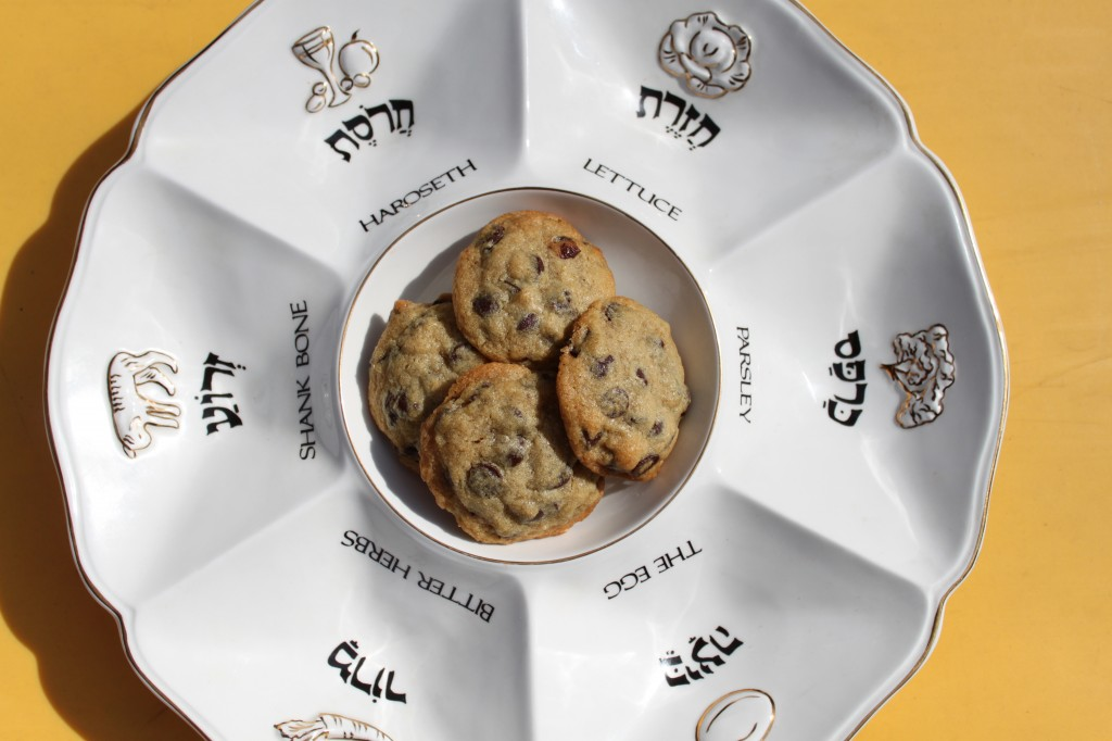 cookies in the center of the seder plate