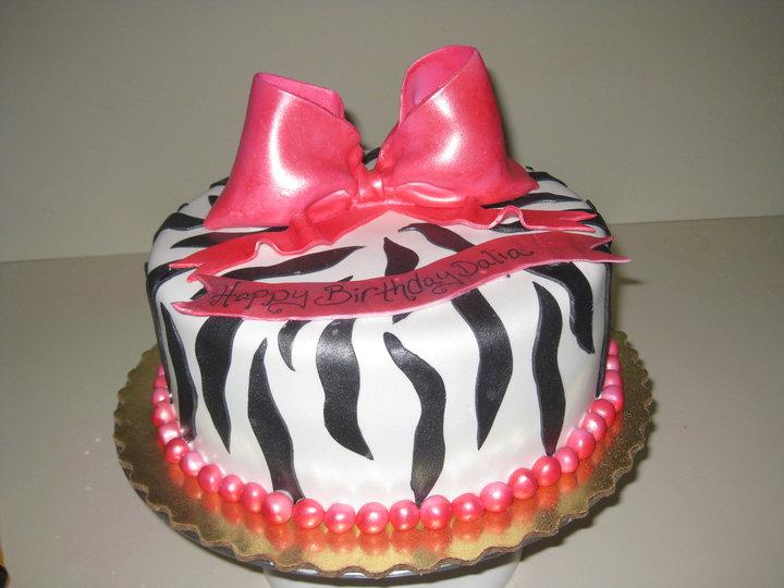 Dalias Zebra Print Cake Lil Miss Cakes