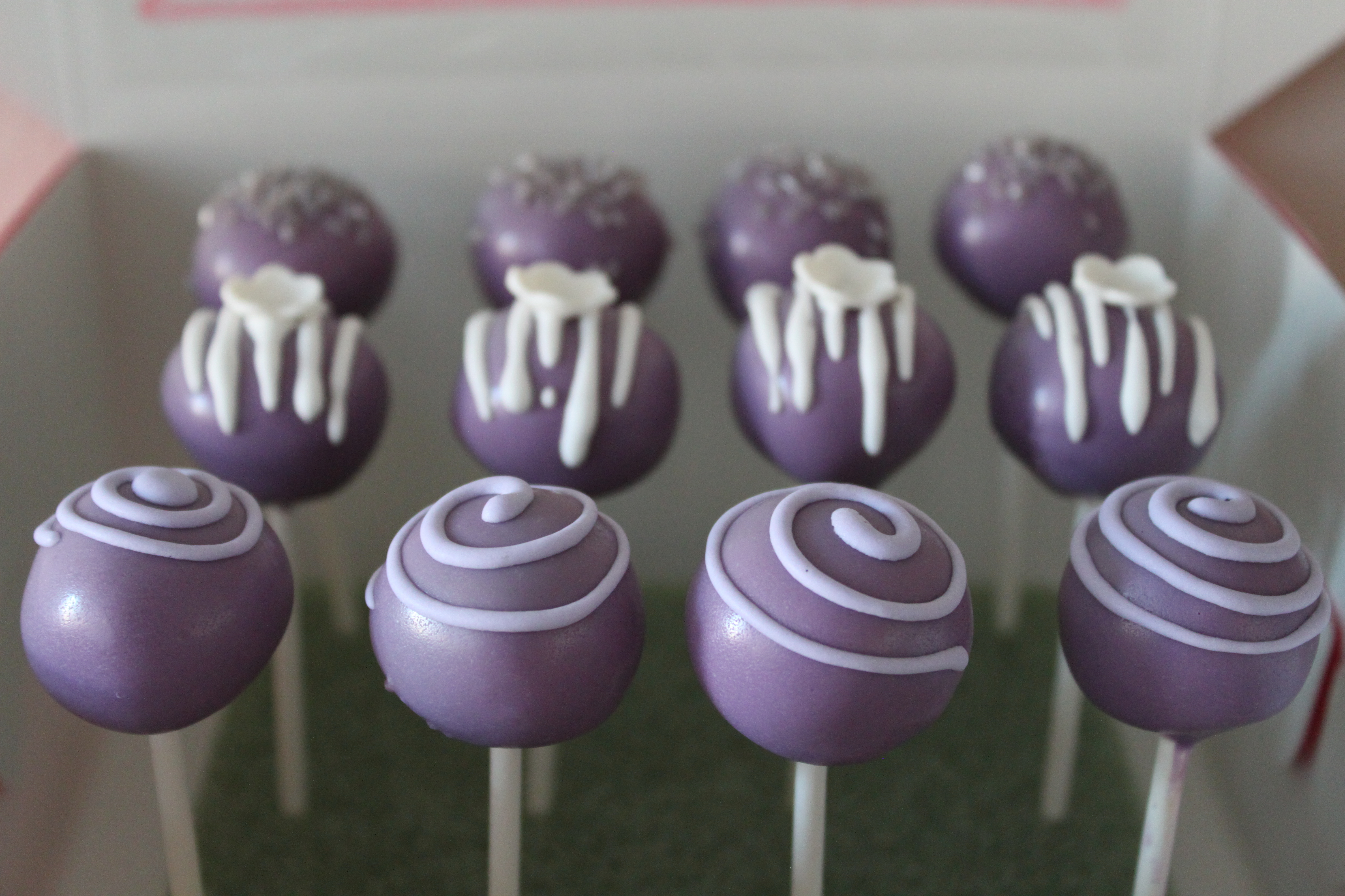 Purple Cake Pops! Lil  Miss Cakes