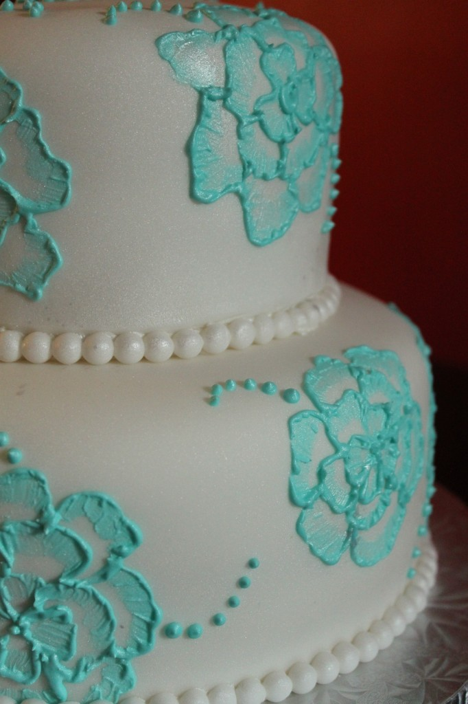 Brush Embroidery Cake  Lil39 Miss Cakes