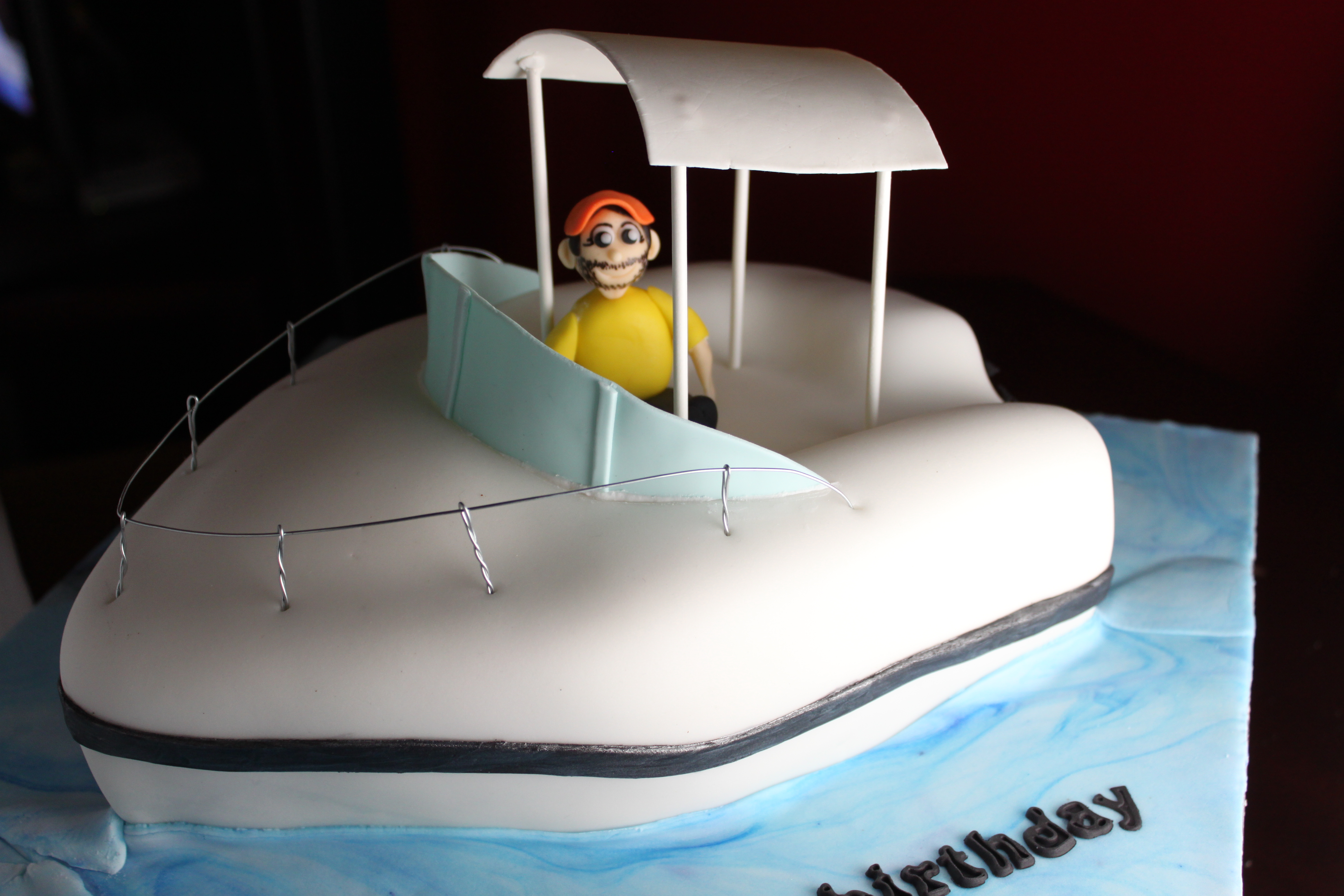 Fishing Boat Cake Lil Miss Cakes - Fishing boat birthday cake