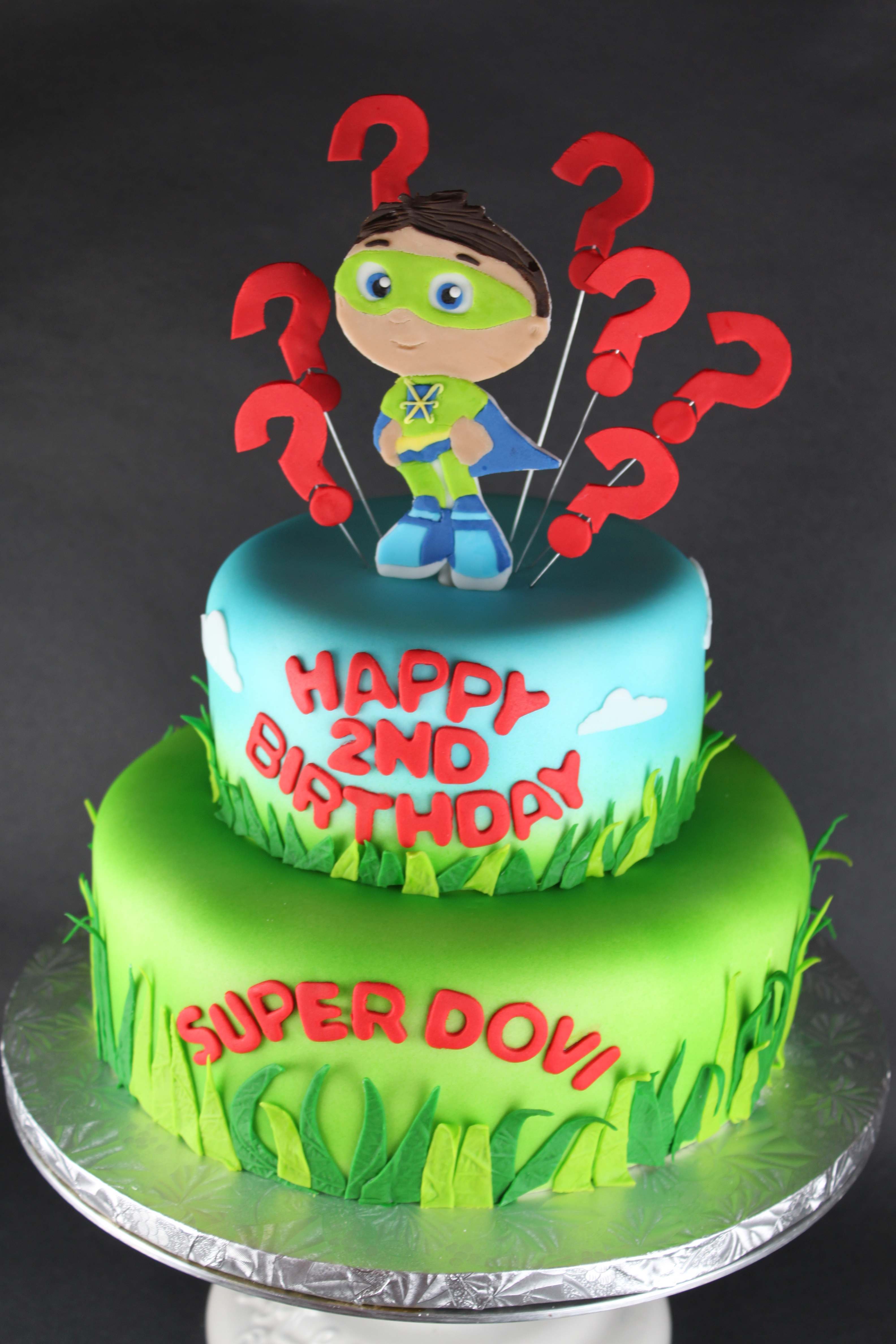 Awesome Super Why Birthday Cake Lil Miss Cakes Funny Birthday Cards Online Elaedamsfinfo