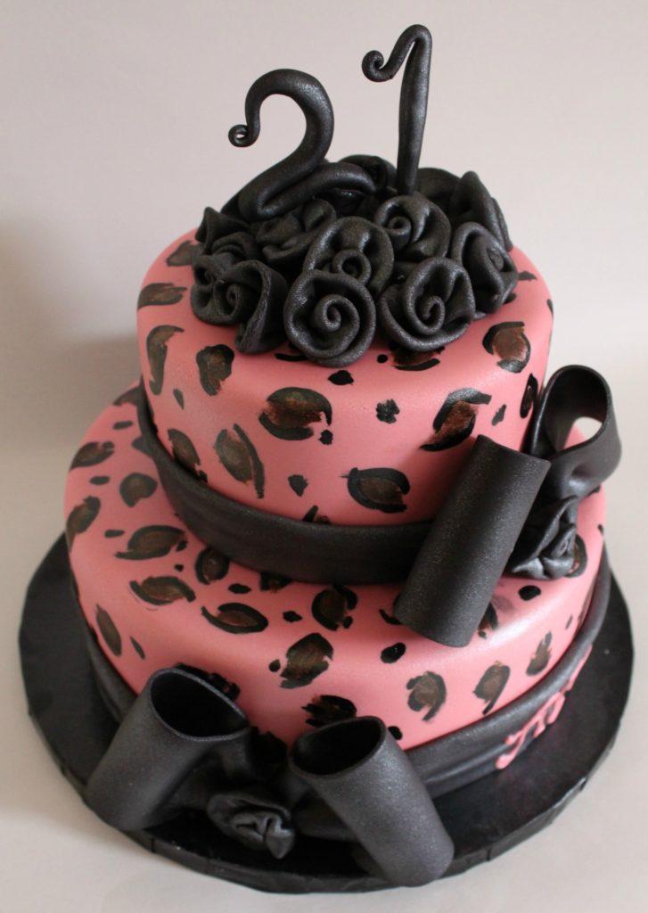 Pink Leopard Print Cake Lil Miss Cakes