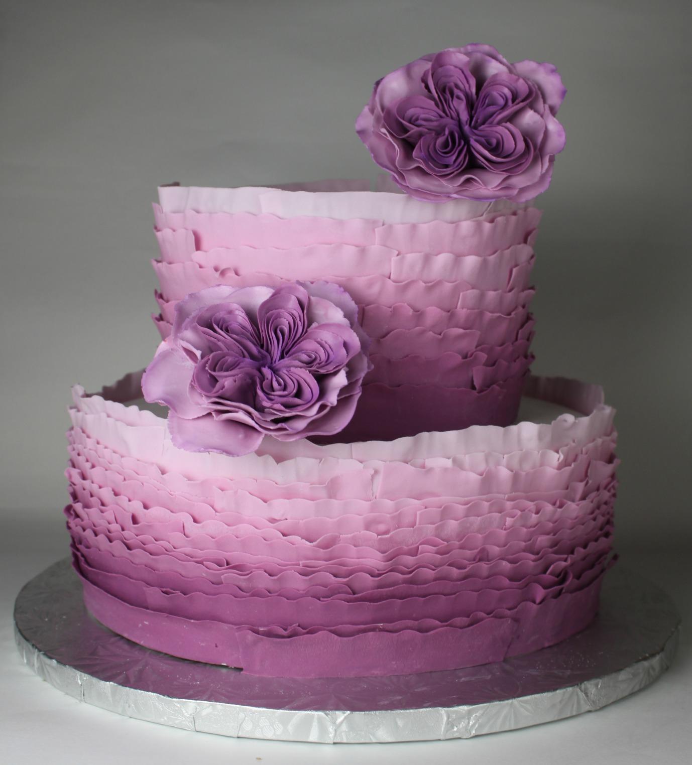 Purple Wedding Wine Or Cake