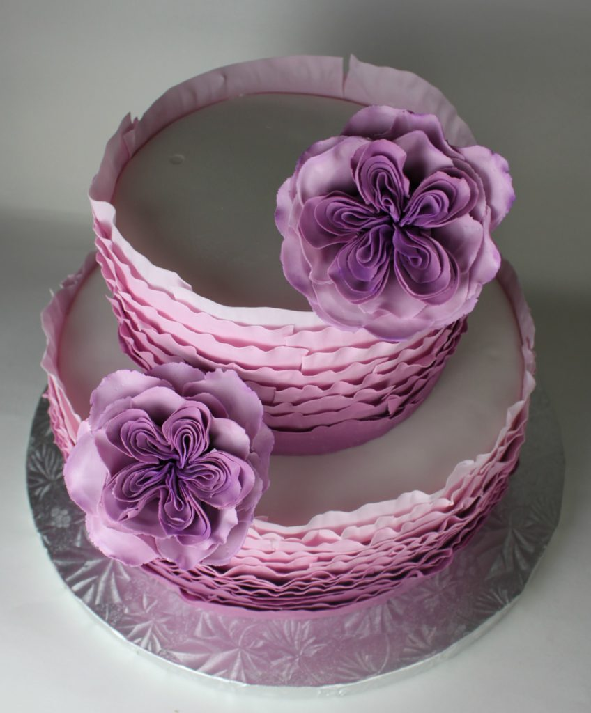 Purple Ruffle Ombre Cake Lil Miss Cakes