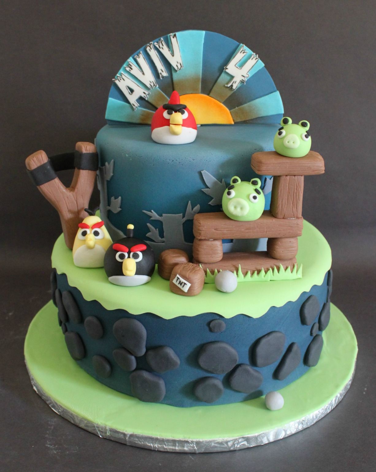 Awe Inspiring Angry Birds Birthday Cake Lil Miss Cakes Funny Birthday Cards Online Overcheapnameinfo