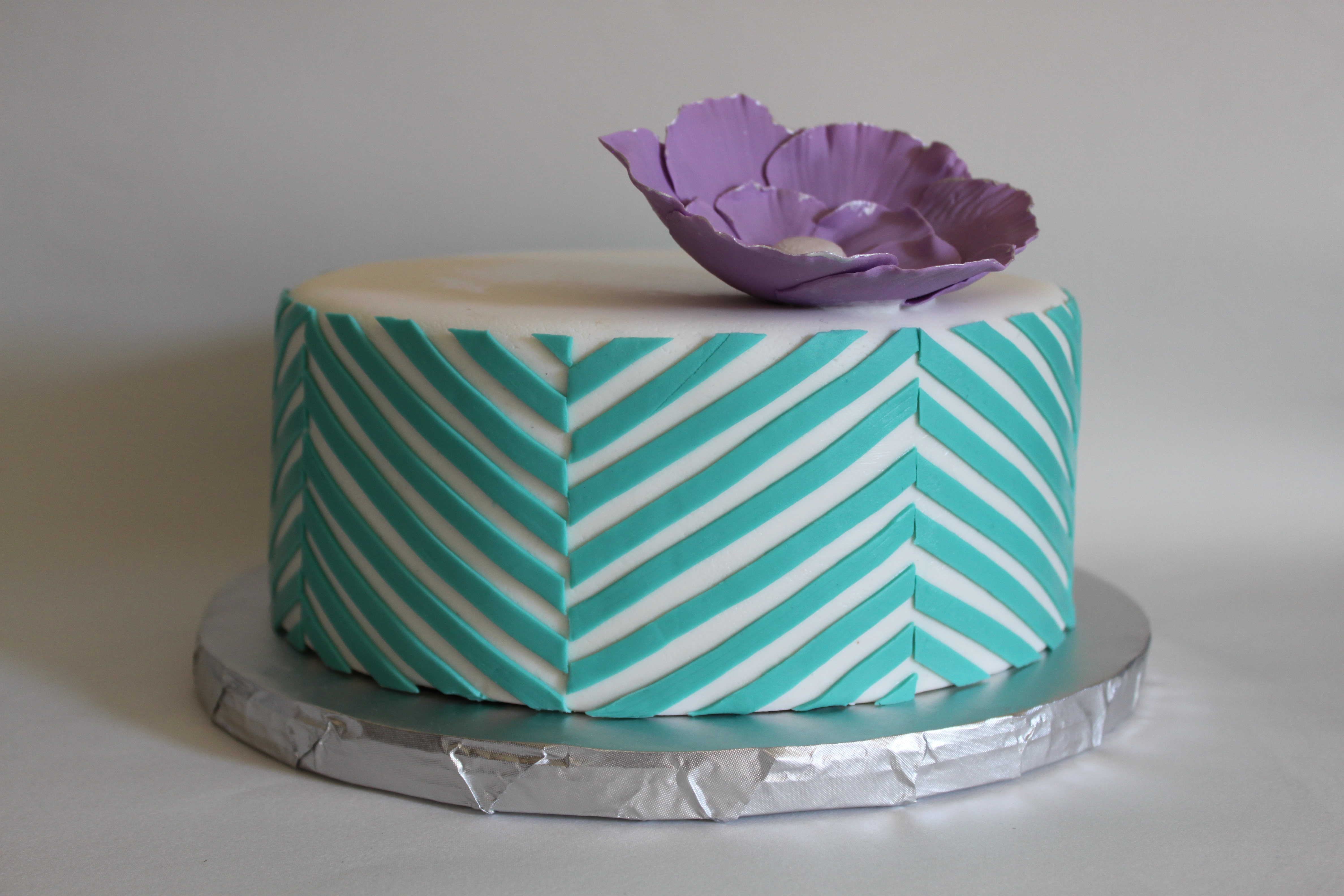 Offset chevron pattern lil miss cakes