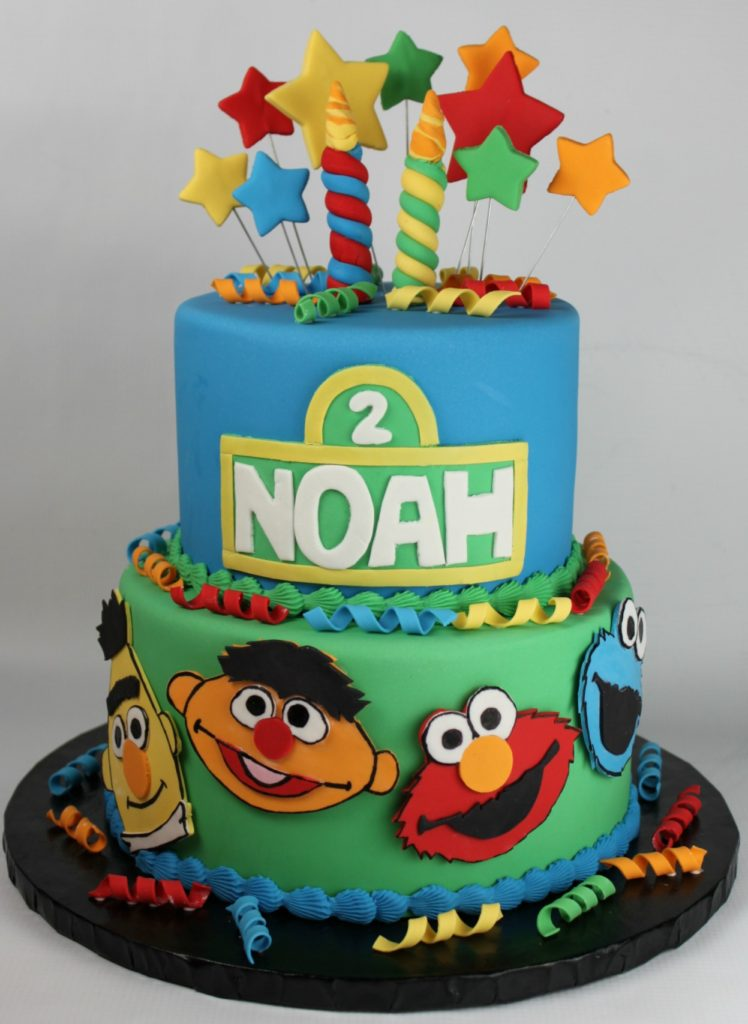Sesame Street Second Birthday Cake