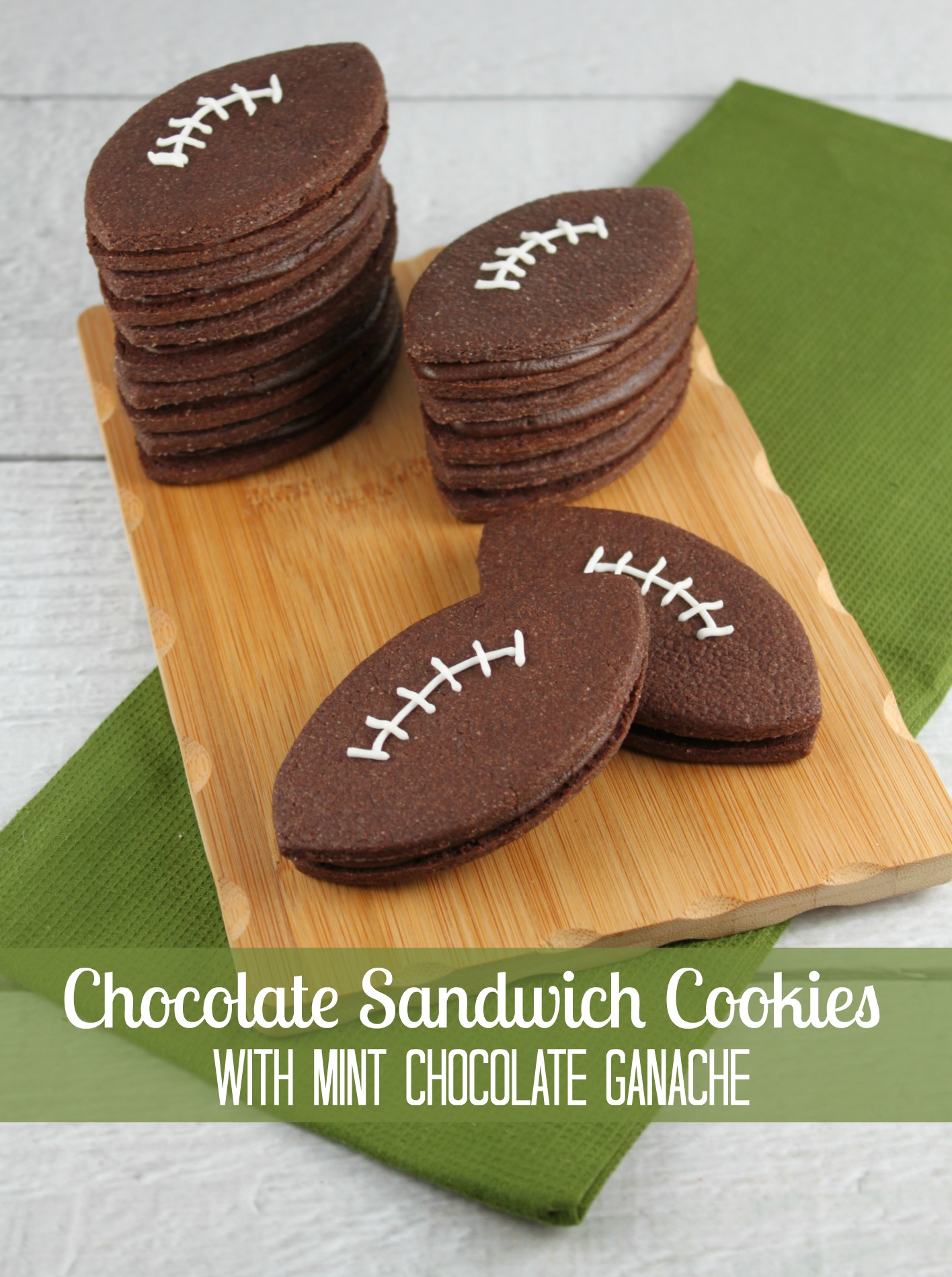 Chocolate Sandwich Cookies With Mint Chocolate Ganache ...