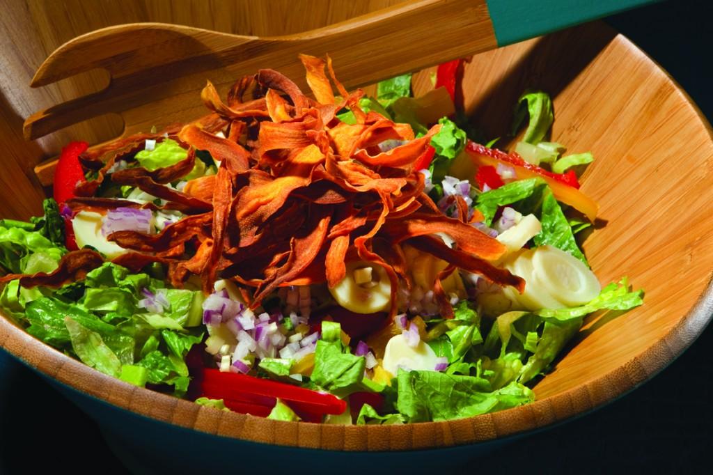 Sweet Potato Crisps Salad