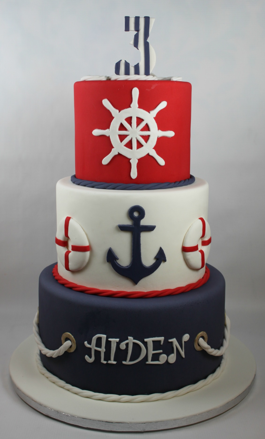 Navy Blue Birthday Cake Ideas