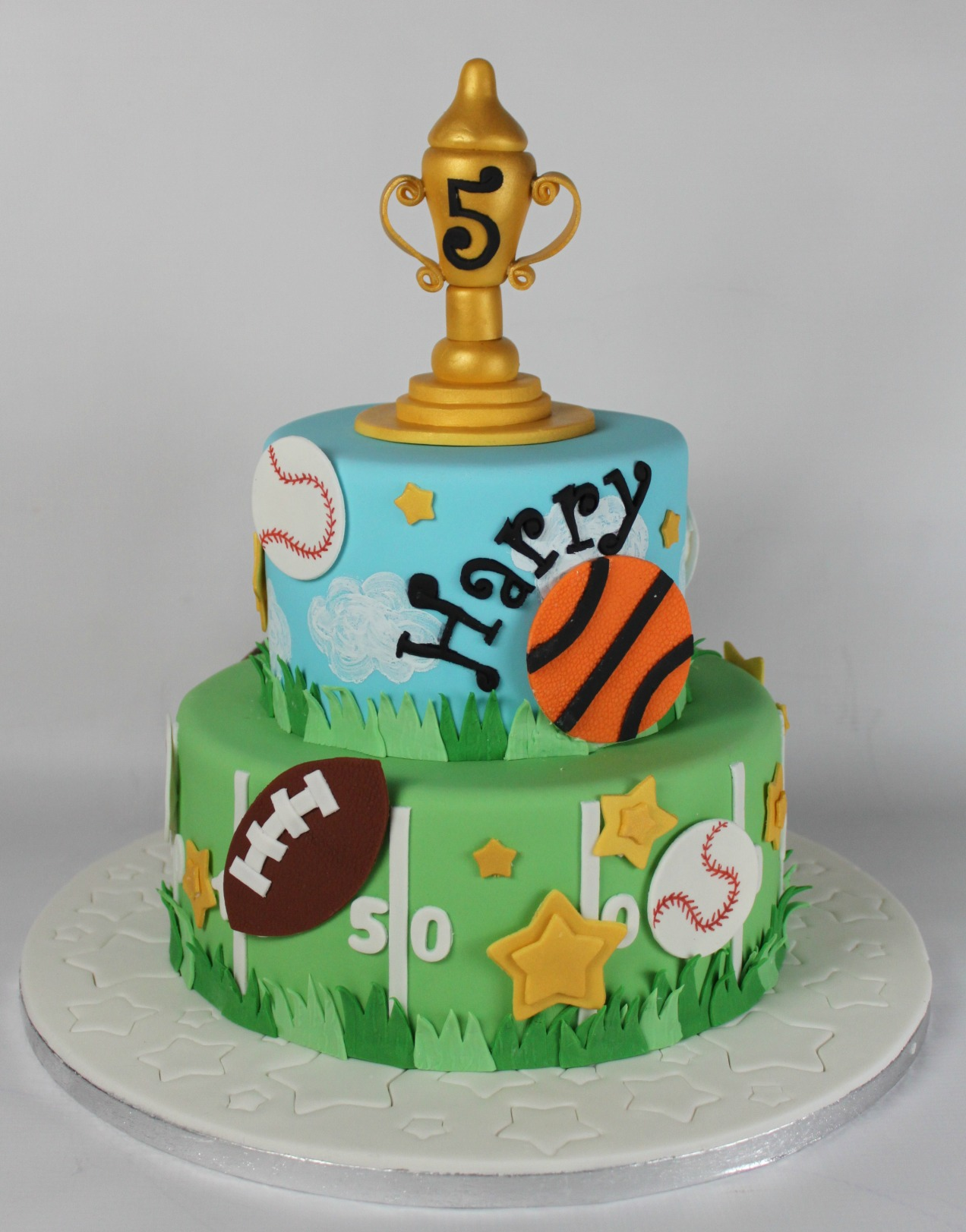 Excellent Sports Themed Cake Lil Miss Cakes Birthday Cards Printable Benkemecafe Filternl