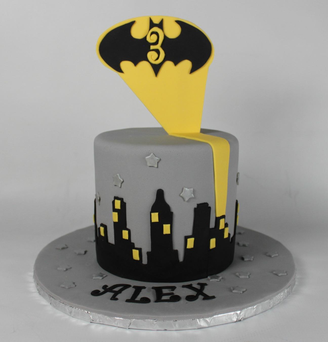 Simple Batman Cake Lil Miss Cakes