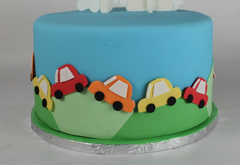Cake With Fondant Cars : Planes, Trains, and Automobiles Cake Lil  Miss Cakes