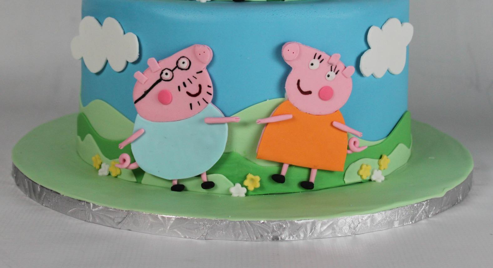 Peppa And George Birthday Cake