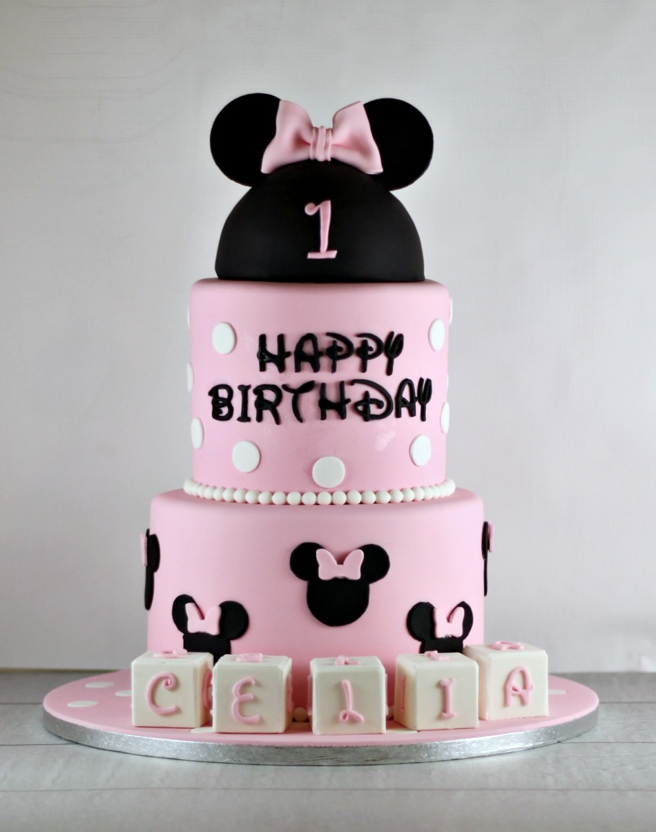 Minnie Mouse First Birthday Cake Lil Miss Cakes