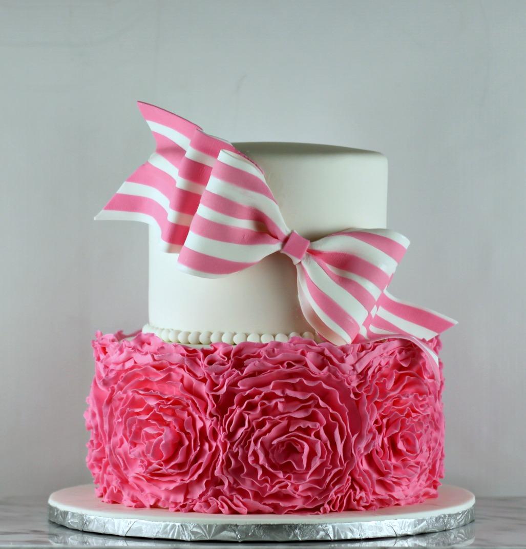 Ruffle Roses Cake