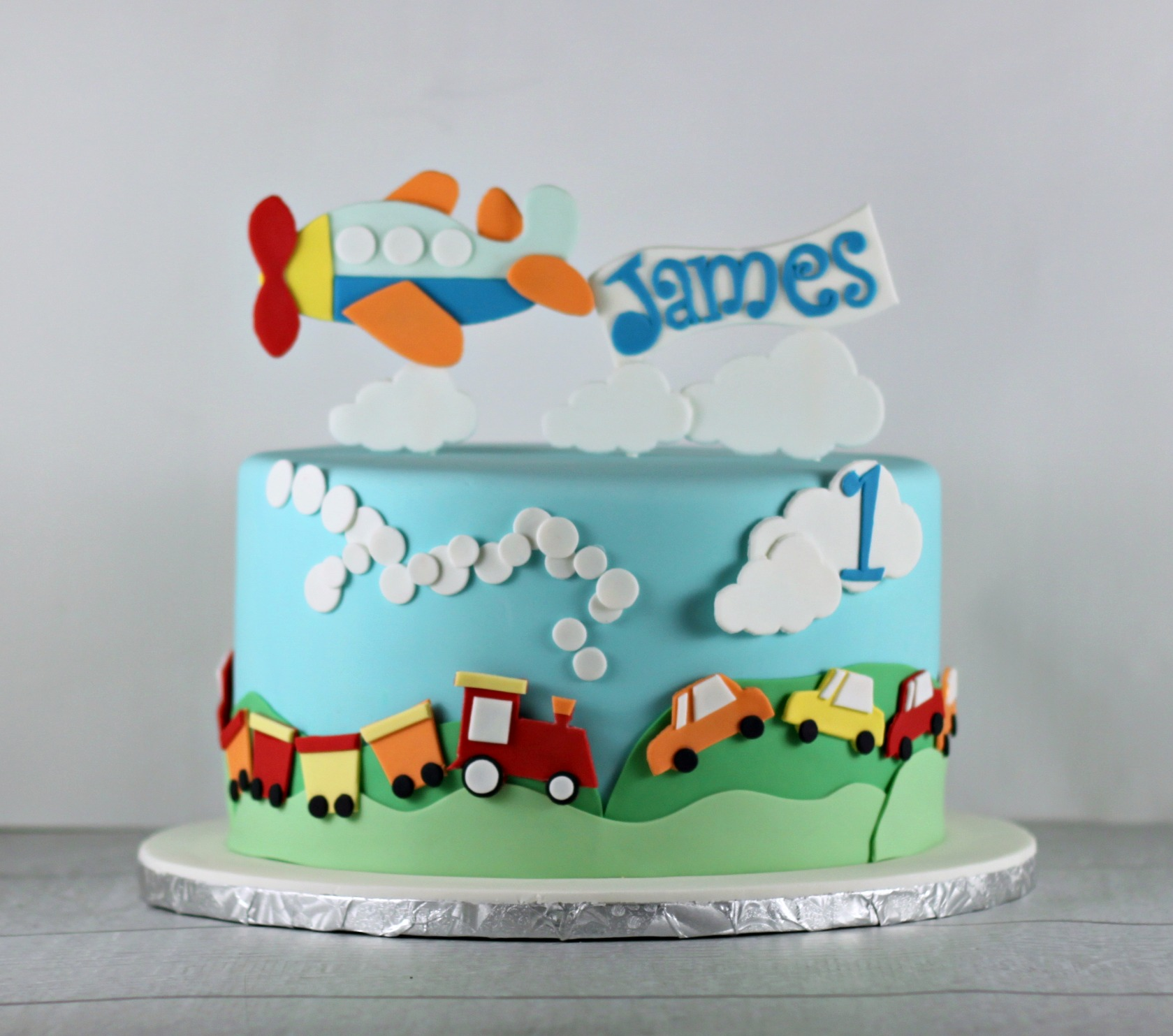 Train Cake For  Year Old Boy
