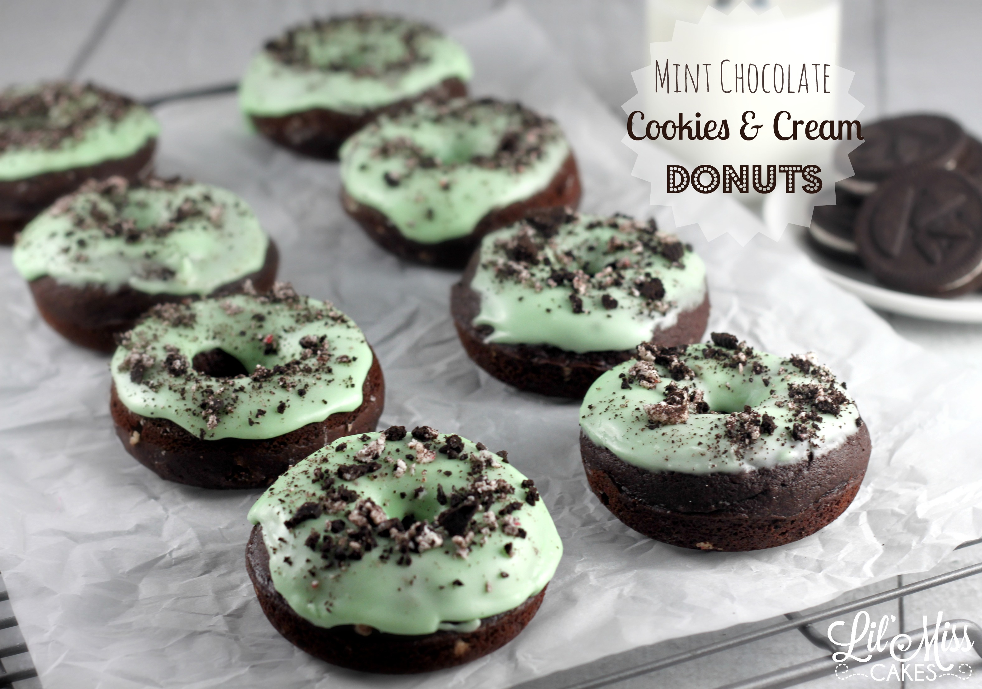 Mint Chocolate Cookies And Cream Donuts Recipe Lil