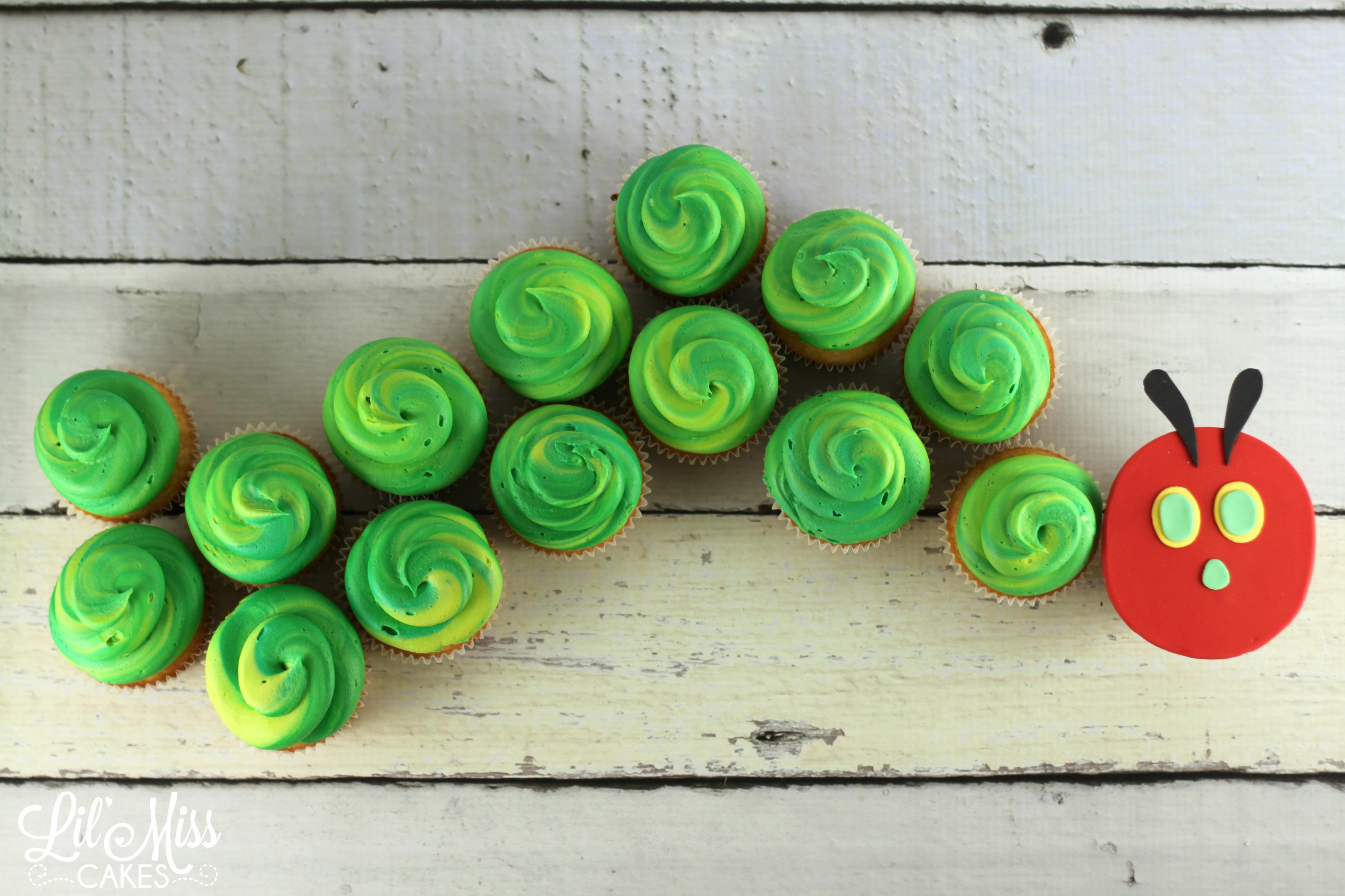 Hungry Caterpillar Cupcakes Cake Photo