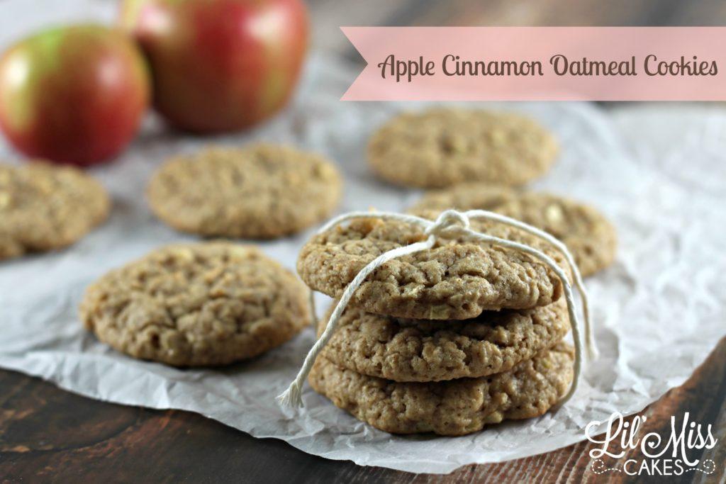 Apple Cinnamon Oatmeal Cookies {Recipe} | Lil' Miss Cakes